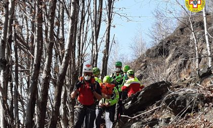 Frattura durante una scalata: salvato dal Soccorso Alpino a Mergozzo