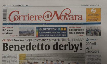 Il Corriere di Novara di giovedì sarà regolarmente in edicola a mezzogiorno