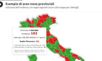 In Piemonte la situazione peggiora ma il novarese è ampiamente sotto la soglia critica