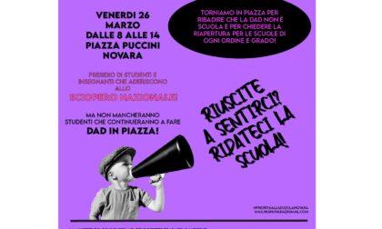 """Oggi sciopero della Dad, studenti in piazza anche a Novara: """"Priorità alla scuola"""""""