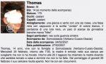 """Thomas Infurna, la famiglia: """"Trovato a Milano"""""""