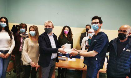 Il comune di Oleggio dona un ecografo all'Usca di Arona