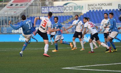 """Un Novara calcio """"spumeggiante"""" cala il tris vincente"""
