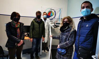 Uno spirometro e un tapis roulant donati alla pediatria di Borgomanero