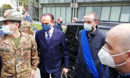 Il generale Figliuolo in visita a Novara