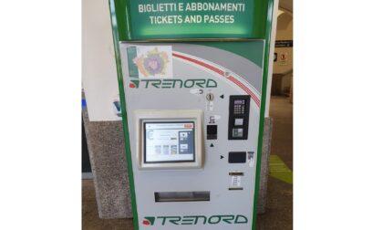 Nuova emettitrice automatica di biglietti in stazione ad Arona