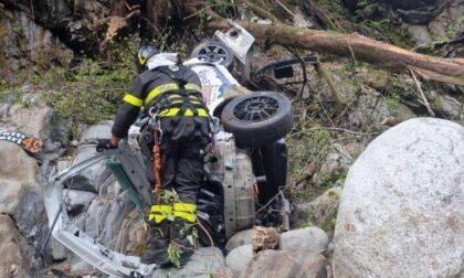 Rally delle Valli Ossolane: due auto precipitano nel torrente