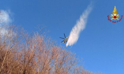 Pasqua di fuoco alle pendici del Vergante: l'incendio tra Carpugnino e Lesa