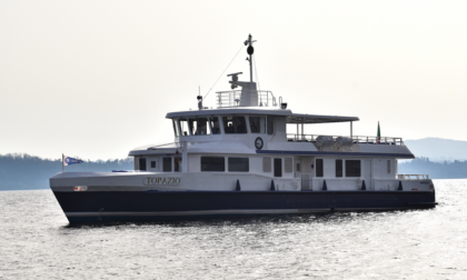 Lago Maggiore: presentata la nuova nave ibrida Topazio