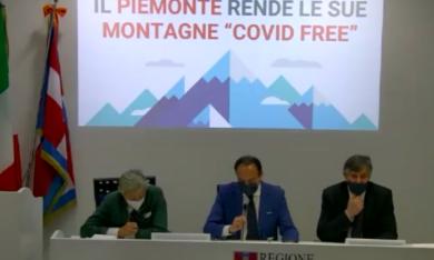 """Il Piemonte prima regione d'Italia a lanciare la campagna """"Montagne Covid free"""""""