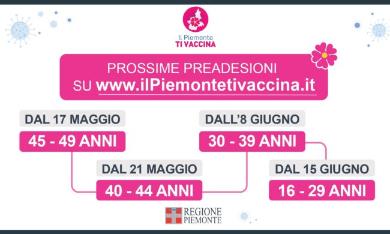 Vaccinazioni anti Covid: da oggi le pre adesioni anche per la fascia d'età 40-44 anni