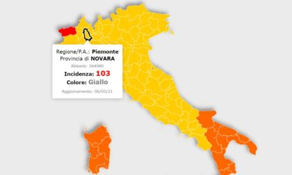 Oggi il cambio dei colori: Novara e Piemonte restano in zona gialla