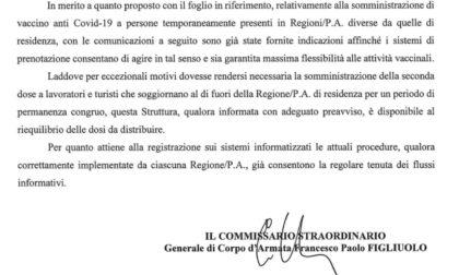 Vaccini in vacanza Piemonte-Liguria: via libera da Figliuolo