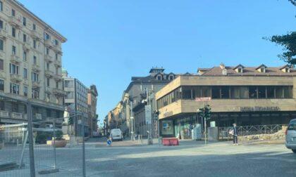 Novara riprendono i lavori per il rifacimento di piazza Cavour