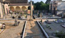A Gozzano partiti i lavori al cimitero di Bugnate e al Lido