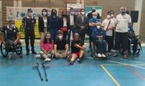 L'incontro con gli atleti paralimpici al palazzetto dello sport di Gozzano