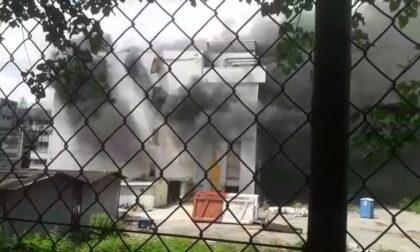 Incendio alla Bemberg nel capannone Ortalion - VIDEO