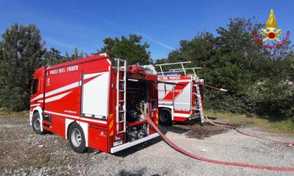 Novara incendio in via Umberto Barozzi