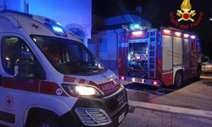 Pombia casa in fiamme: intervento dei vigili del fuoco
