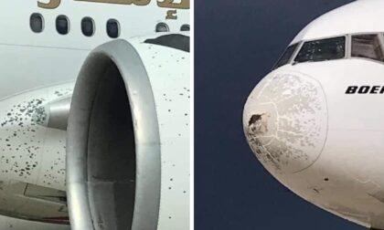 Boeing 777 diretto a New York costretto dalla grandine ad atterraggio d'emergenza a Malpensa