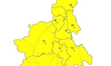Meteo allerta gialla sul Piemonte: in arrivo temporali intensi