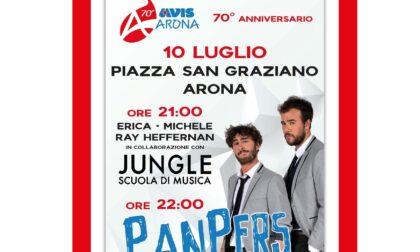 "Avis Arona festeggia i 70 anni con i ""PanPers"""