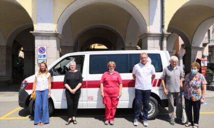 Nuovo pulmino per la Croce rossa di Verbania