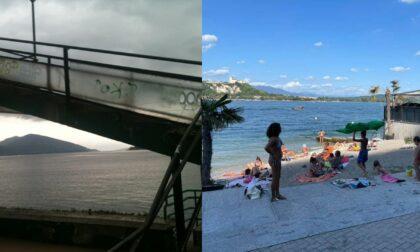 """Gusmeroli risponde al Pd: """"Arona ha 3 spiagge balneabili e gratuite con bagnino"""""""