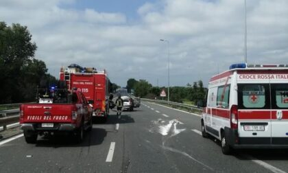 Tangenziale Est di Novara chiusa al traffico per incidente