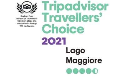Il Lago Maggiore riceve il premio Tripadvisor Travelers' Choice Award 2021