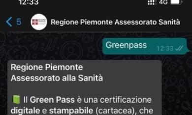 Green pass: nuovo numero Whatsapp della Regione per informazioni