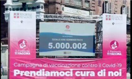 Covid: il Piemonte supera quota 5 milioni di vaccini