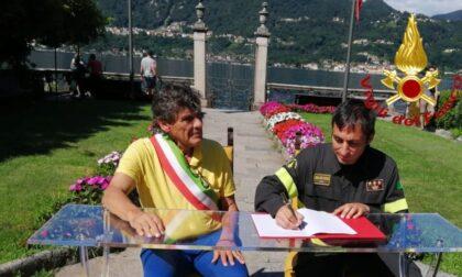 """Il sindaco di Orta San Giulio e il comandante provinciale dei pompieri siglano """"OrtaSicura"""""""