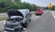 Incidente in autostrada sull'A26 ad Arona: un ferito