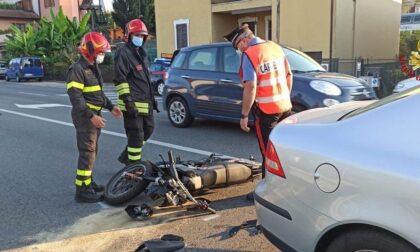 Incidente sul Sempione a Dormelletto: ferito motociclista