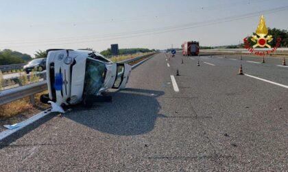 Incidente in autostrada a Vicolungo: quattro feriti