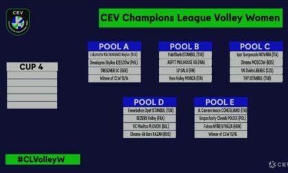 Igor Volley: ecco le avversarie in Champions