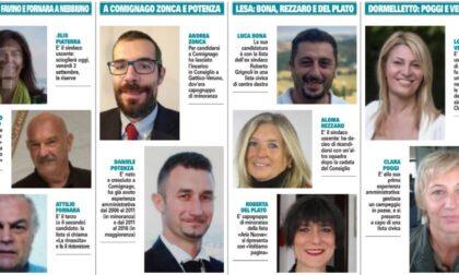 Elezioni comunali nell'aronese: tutti i candidati sindaci