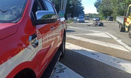 Paruzzaro incidente tra Suv e moto: un ferito