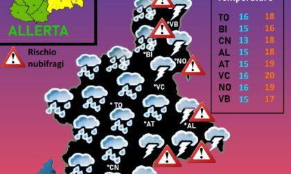 Attenzione allerta meteo su Vco e Novarese nella giornata di oggi