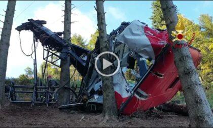Strage Mottarone: il video della rimozione della cabina