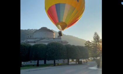 Il video della mongolfiera che decolla, sbatte contro un tempio e ne abbatte un pezzo